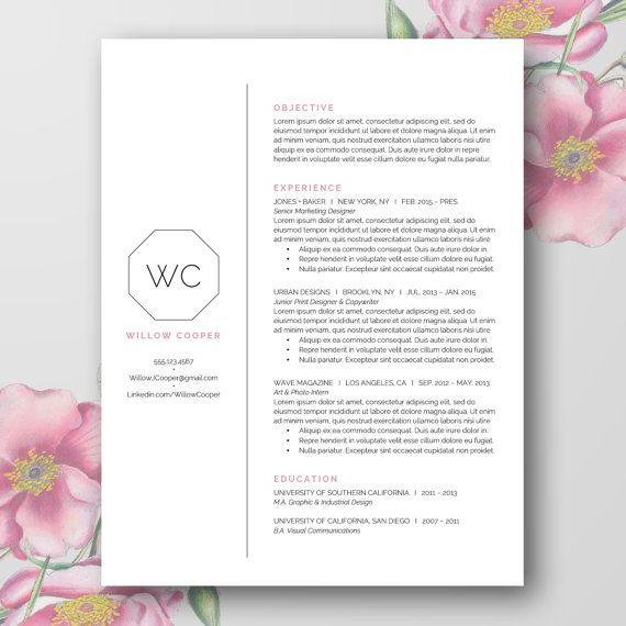 40 best Portfolio, Resume, Business Cards images on Pinterest - resume templates word doc