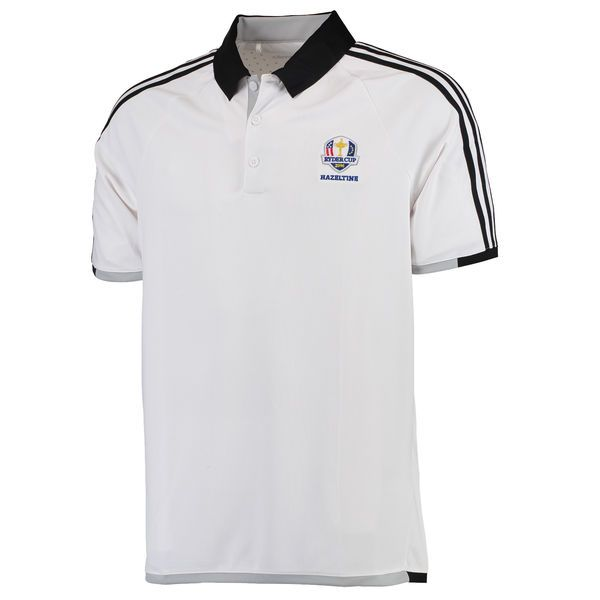 adidas 2016 Ryder Cup 3-Stripe climachill Competition Polo - White/Black - $44.99