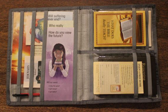 Magazine and Book Folder Service Book Bag by GoodNewsFolders
