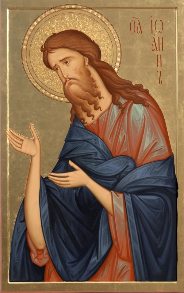 Св. Иоанн Предтеча  icon of St John by hands of Anton Daineko/ From triptich for cathedral in Grodno . More you can see here http://ikona-skiniya.com/