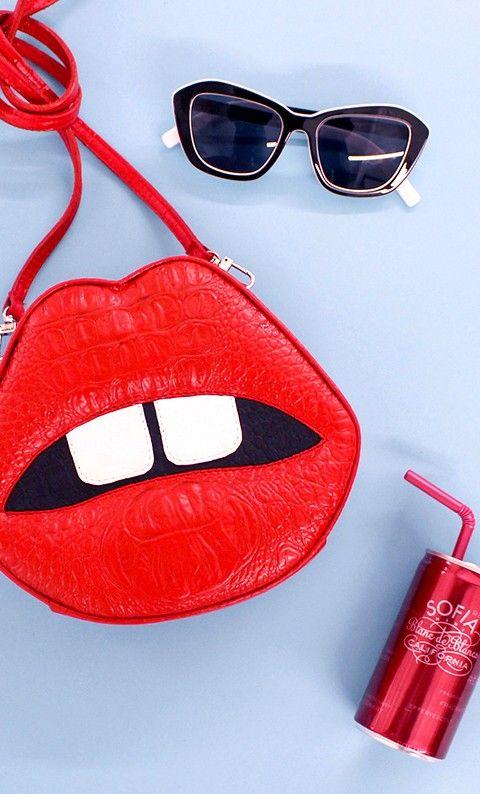 Nasty Gal lip purse