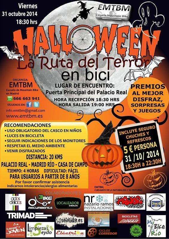 ¿Te atreves a realizar esta increíble ruta nocturna Bike Halloween?   Escalofriante... http://www.emtbm.es/166616764