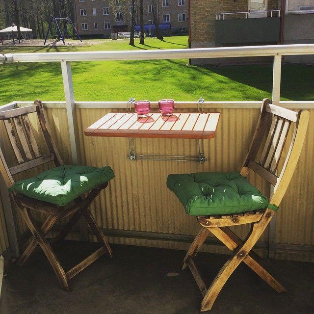 Blev ett nytt bord till balkongen i dag. ❤️ #balkong #ö&b #sol #härligt #nice #sweden #vår #summer #sommar