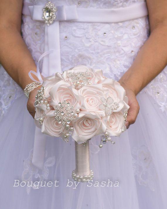 Ramo de cristal Broche ramo rosa de diamantes de imitación