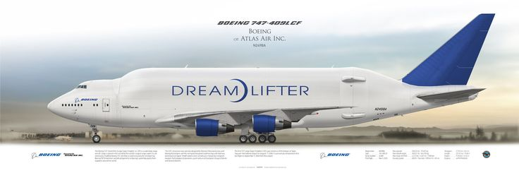 Boeing 747-409LCF Dreamlifter Boeing op. Atlas Air N249BA | www.aviaposter.com | #airliners #aviation #jetliner #airplane #pilot #aviationlovers #avgeek #jet #airport #pilotlife