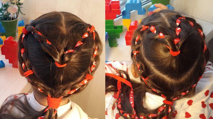 Сердце из 4-прядной косы с лентой. 14 февраля. Любите друг друга и GoHair. Волосы вперед! https://www.youtube.com/watch?v=cZopmL_x7-w