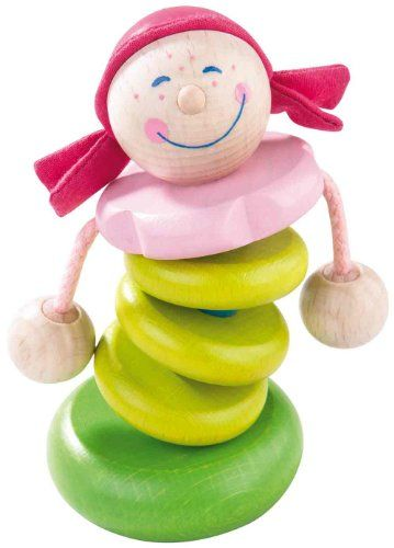 HABA Rosella Wooden Rattle Made in Germany ** For more information, visit image link.