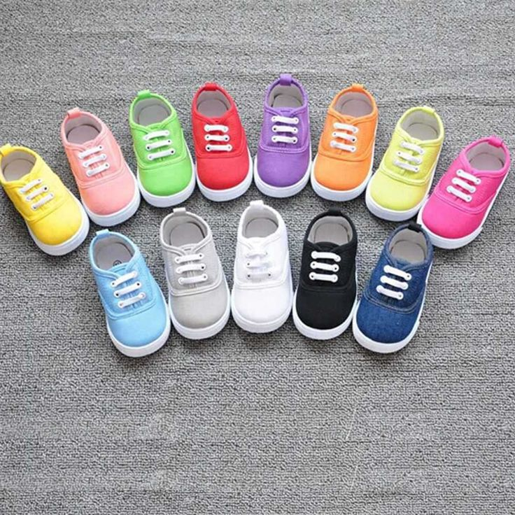 Cheap Sneakers, Buy Directly from China Suppliers: Brand New Girls Boy's Fashion Canvas Breathable Sneakers Shoe For Children Size 13-17 Flats Heels Casual Shoes Little B