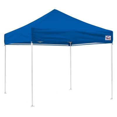 Impact Canopy 10 x 10 ft. EZ Pop Up Canopy with Weight Bags and Roller Bag Royal Blue - TL-WB4KIT-RB