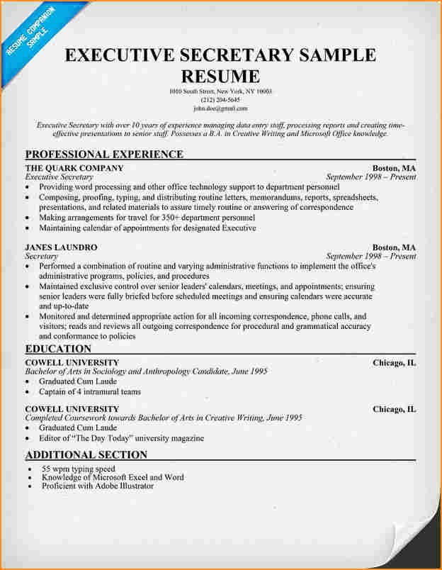 12 Cover Letter For Executive Secretary Resume Basic Cover Letter For Resume Basic Resume Free Resume Examples