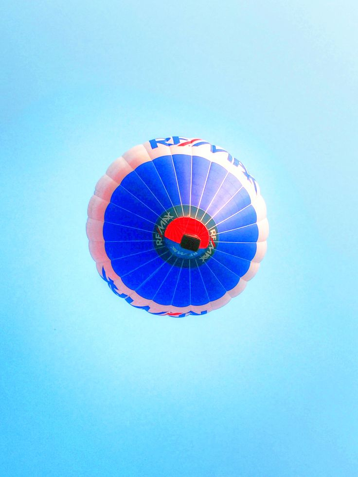 REMAX Balloon flying over us at Ariel Foundation Park in Mount Vernon, Ohio.  Photo by Sam Miller #REMAX