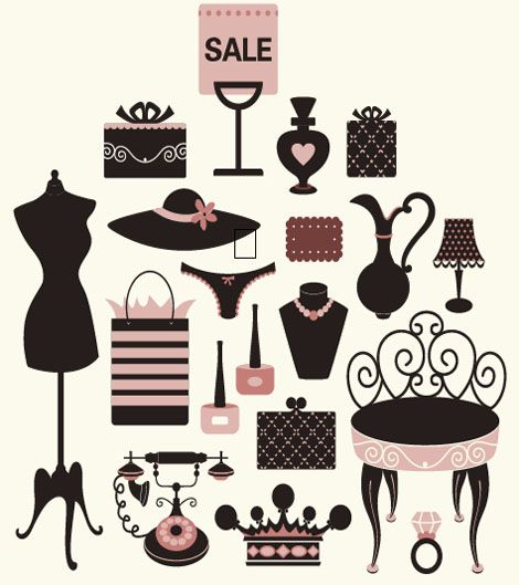 Free Girly Vector Collection - Free Vector Site | Download Free Vector Art, Graphics
