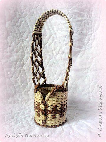 Поделка изделие Плетение Короб для рукоделия и еще парочка мелочей Бумага Трубочки бумажные фото 12