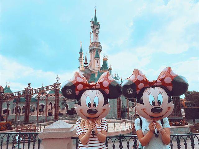 #DisneyGoals Disney land Paris friends Disney goals Minnie Mouse Disney castle…