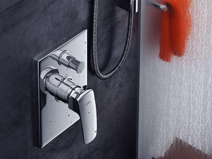Axel Bateria wannowo - prysznicowa Athena http://www.excellent.com.pl/produkt/430/bateria-prysznicowo-wannowa-podtynkowa-athena