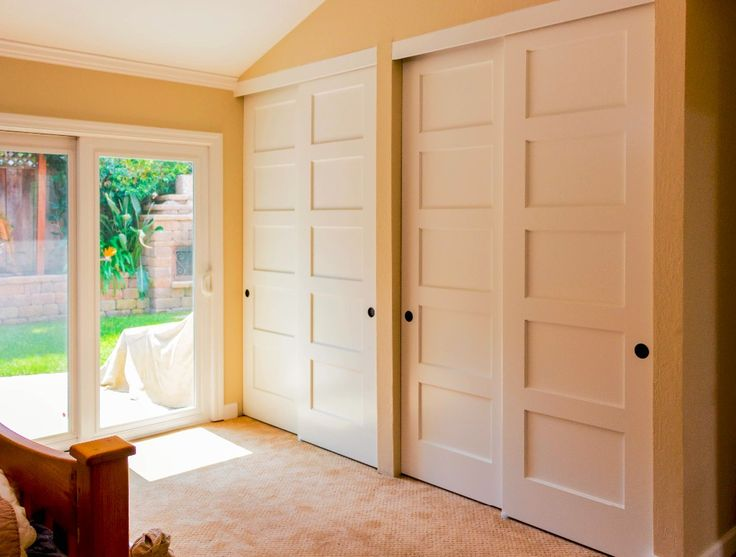 Bypass Closet Doors | cambridge bypass closet door maple 5 panel shaker doors by trustile ...