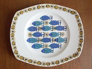 Figgjo Flint Turi Clupea vintage plate like arabia, rorstrand, egersund, figgio