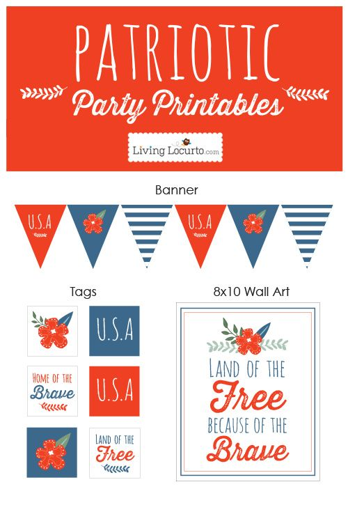 Patriotic Party Ideas and Printables @Amy Lyons Lyons Lyons Locurto
