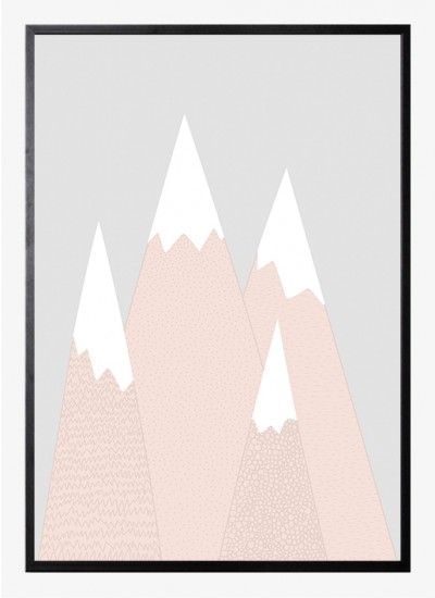 Pink mountain by Wiho Design | Poster from theposterclub.com