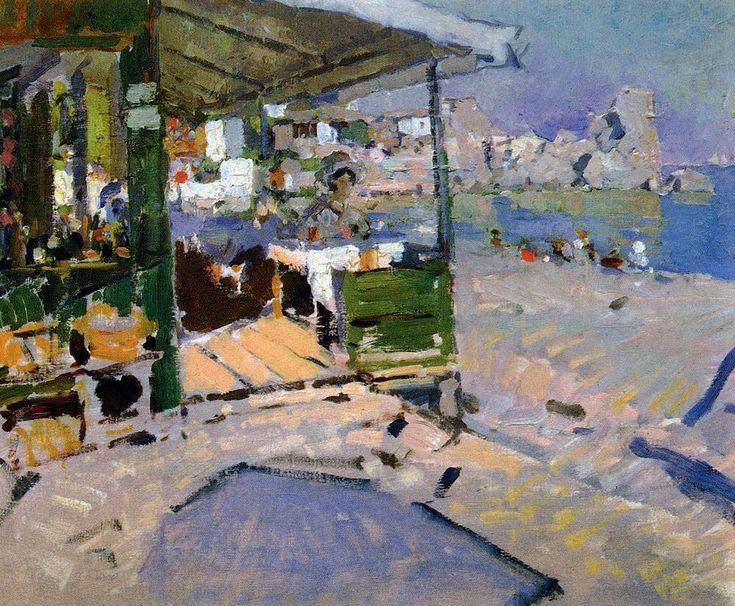 Konstantin Korovin - On the beach in the Crimea 1909