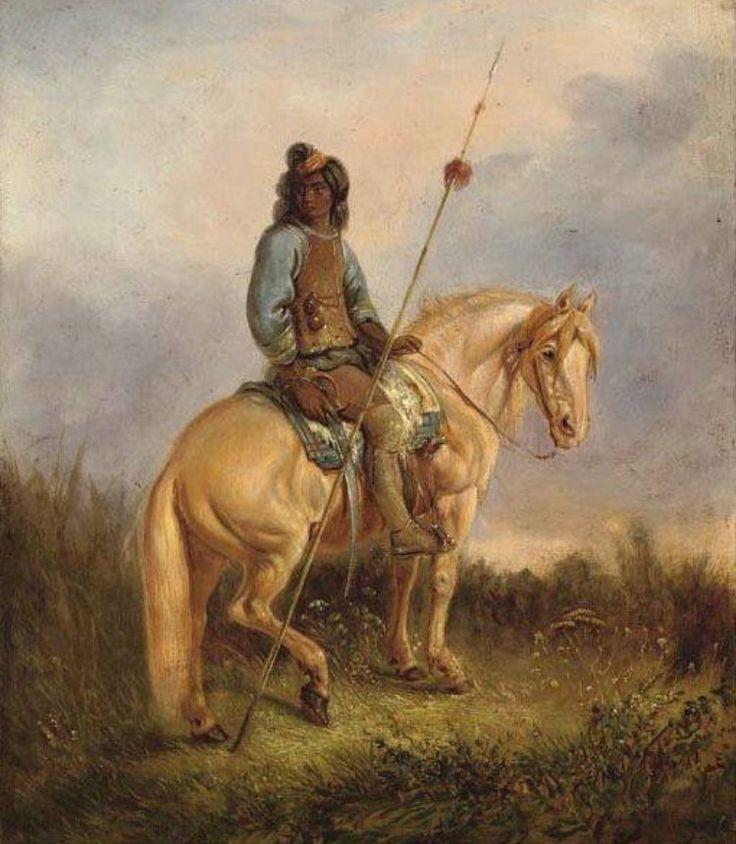 MR - Retrato ecuestre de un jefe Pehuenche - 1842