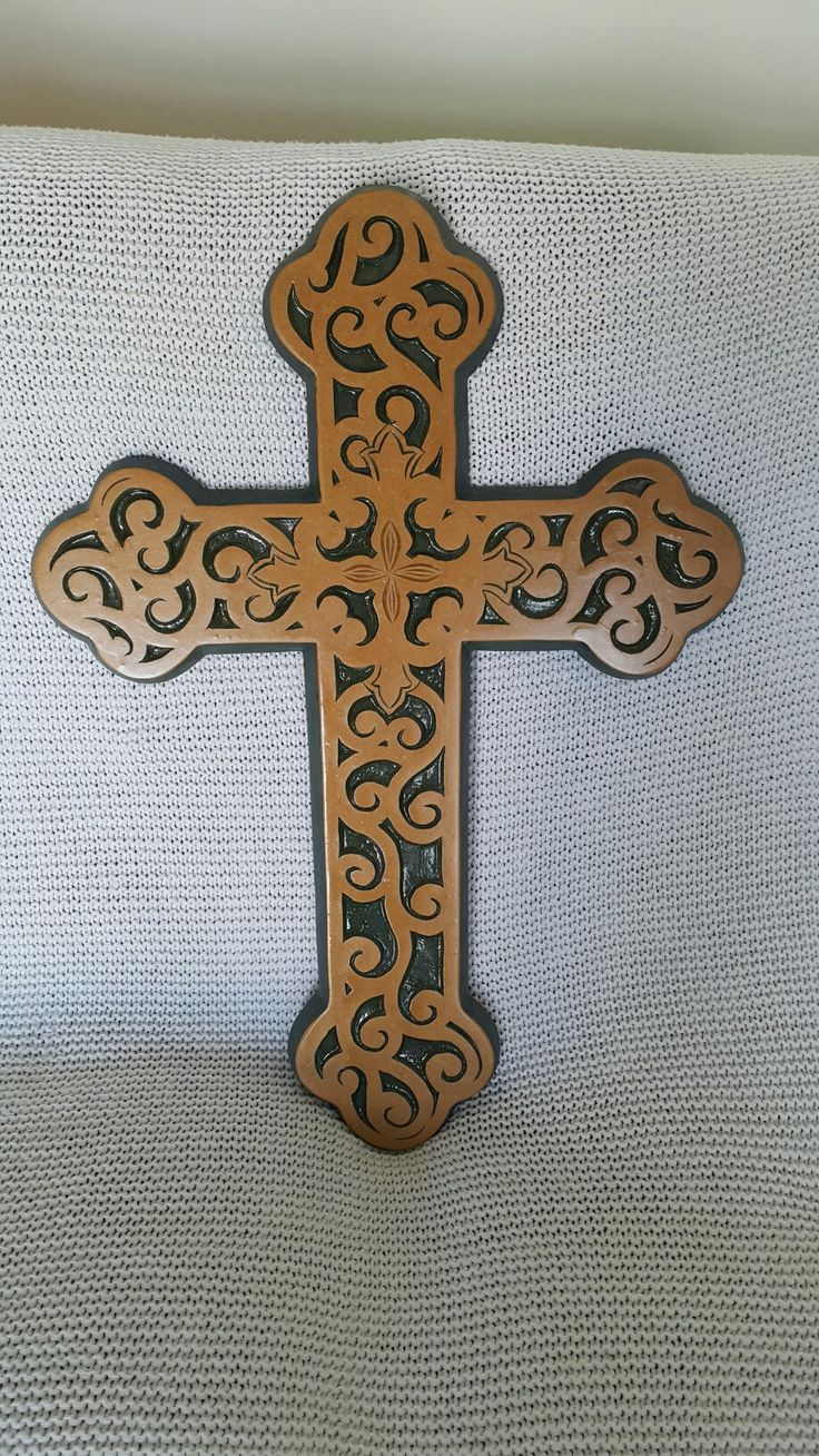 Painted &varnished Cross
