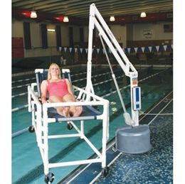8 best aquatic wheelchair pool lifts images on pinterest ada compliant pools and swimming pools for Hydraulic chair lift for swimming pool
