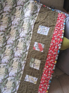 'Gumnut babies' baby quilt (back) by Milly of #tinwhistle