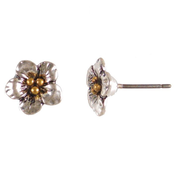Pretty Hultquist Jewellery Strawberry Flower Silver Earrings Only £12.50 at Lizzielane.com http://www.lizzielane.com/product/hultquist-jewellery-strawberry-flower-silver-earrings/