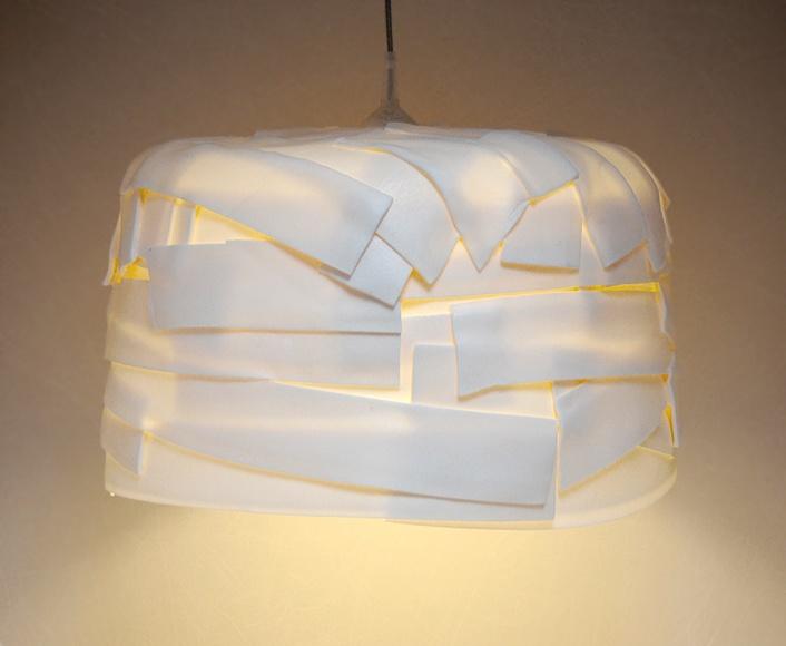 #upcycled #white #lampshade BUBBLE GUM, designed by Daria Burlińska and manufactured by dbwt.pl #polishdesign #upcycling #reuse #greendesign #slowdesign #white #foam #designedinpoland / upcyclingowy abażur GUMA BALONOWA   projekt: Daria Burlińska, produkowany ręcznie w Polsce przez dbwt.pl #recykling #zielonydesign #polskidesign