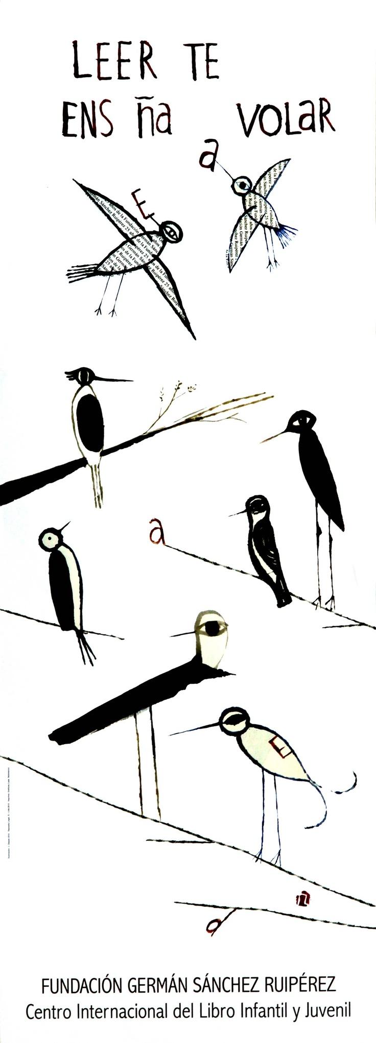 Leer te enseña a volar/ Ilustración J. Zabala (2010)
