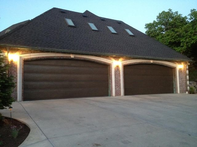 Flush panel garage door flush panel doors pinterest for Flush panel wood garage door