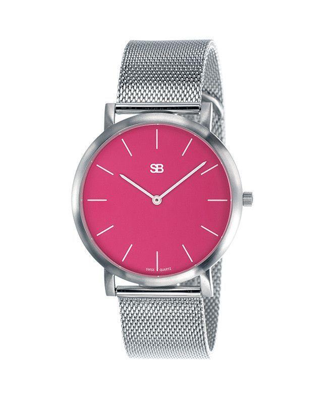 SOB1015 Steel Blaze Watch w/Mesh Bracelet