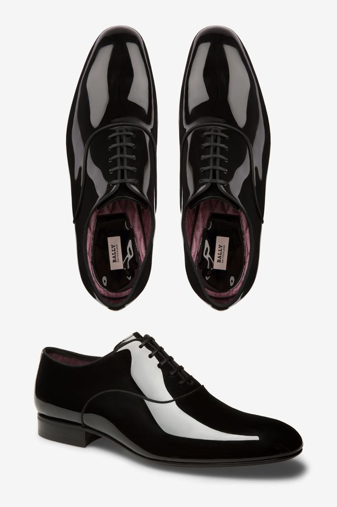 Bally Lemming Men S Patent Leather Oxford Shoe In Black Patent