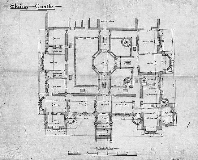 Slains castle 1st floor plan home floors and photos for Scottish castle house plans