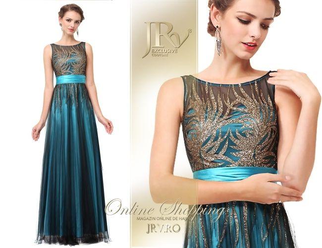 Rochie de seara Celia Light Blue - JRV Exclusive Couture // JRV.ro