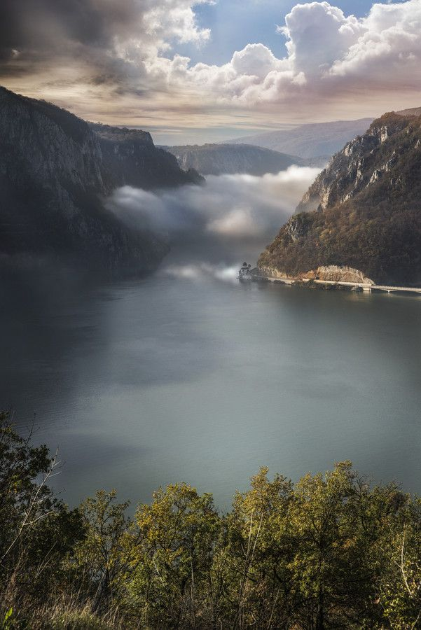The Gorges of the Danube form a unique Nature Park in Romania. Canyons of the Danube River are among the largest gorges in Europe.