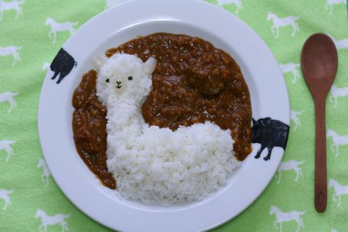 alpaca curry: Food, Curries Rice, Rice Dishes, Burning Flames, Alpacas, Mr. Beans, Rice And Beans, Japan Curries, Kid