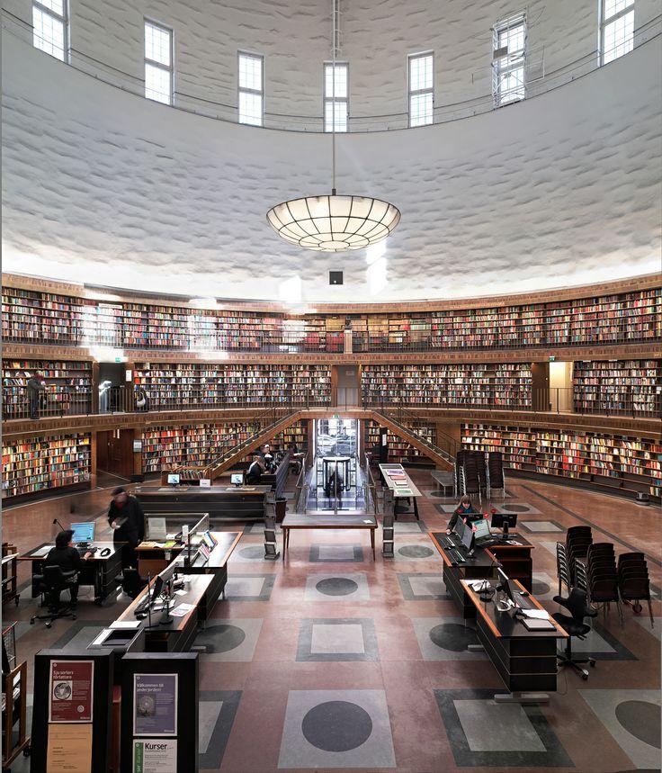 Gunnar Asplund, Stockholm City Library,1928 'Modern republican realization'