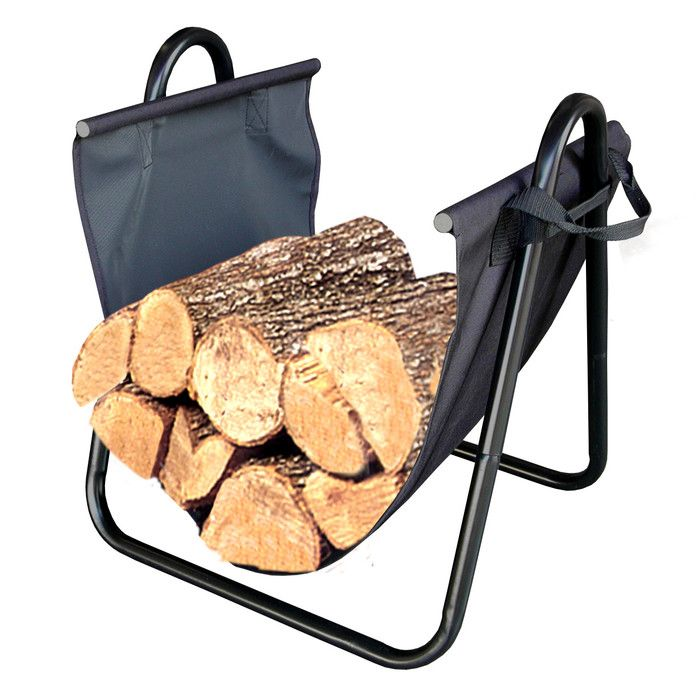 You'll love the Firewood Log Holder with Canvas Carrier at AllModern - With Great Deals on modern Renovation  products and Free Shipping on most stuff, even the big stuff.