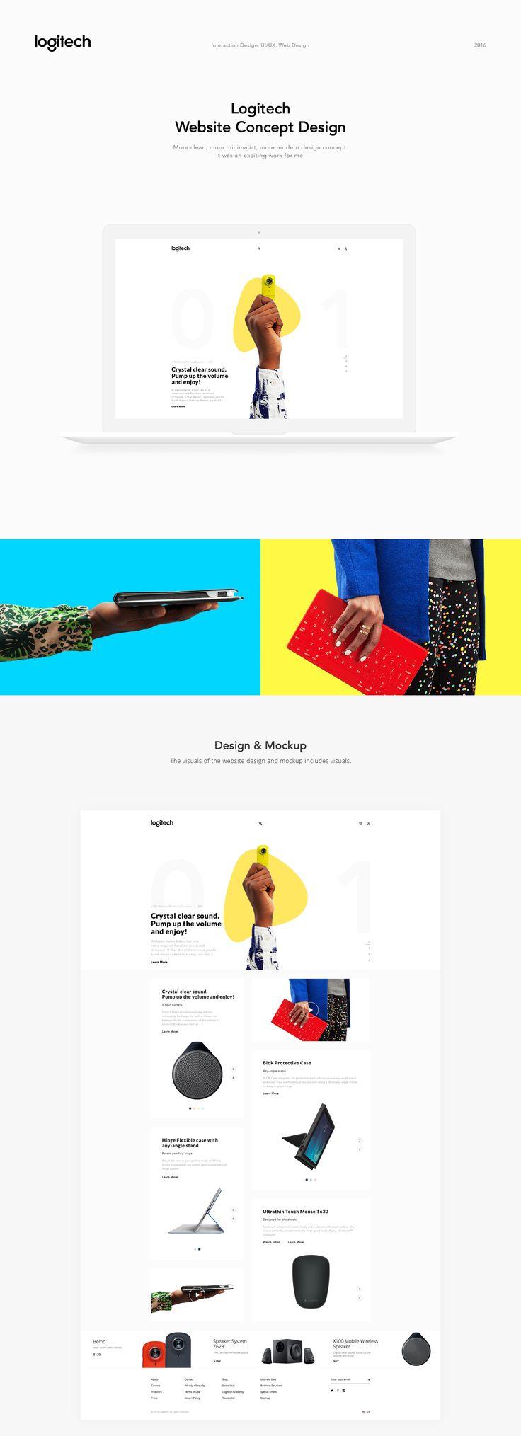 Logitech Website Concept Design on Behance