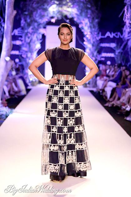 Sonakshi Sinha for Manish Malhotra at Lakme Fashion Week Summer/Resort 2014