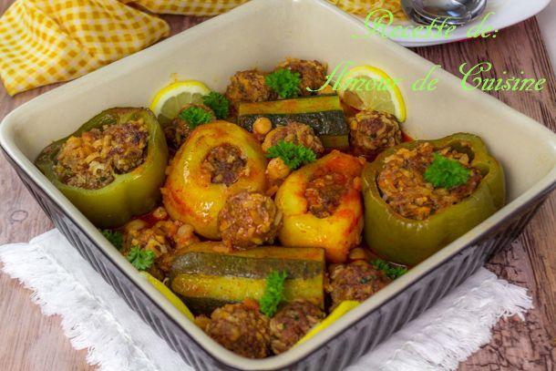 Dolma, legumes farcis a la viande hachee au four - Amour de cuisine