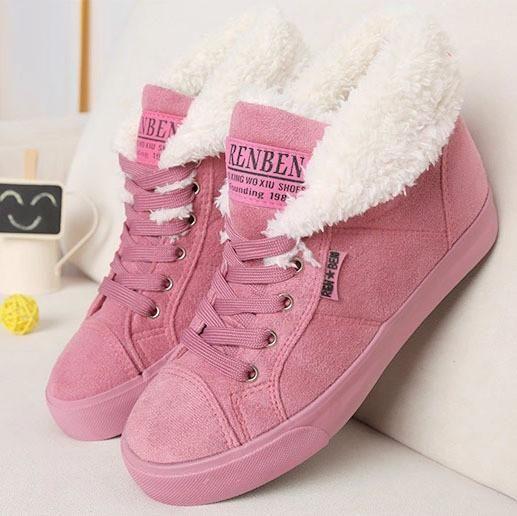 Fur female warm ankle boots snow autumn winter women boots Sale price$39.99 Regular price