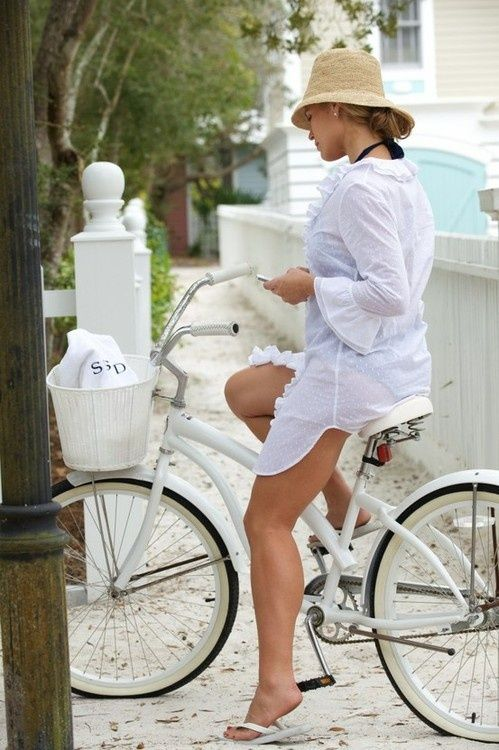 . Simple Pleasures That Make A Happy Life / cycling in the summer time