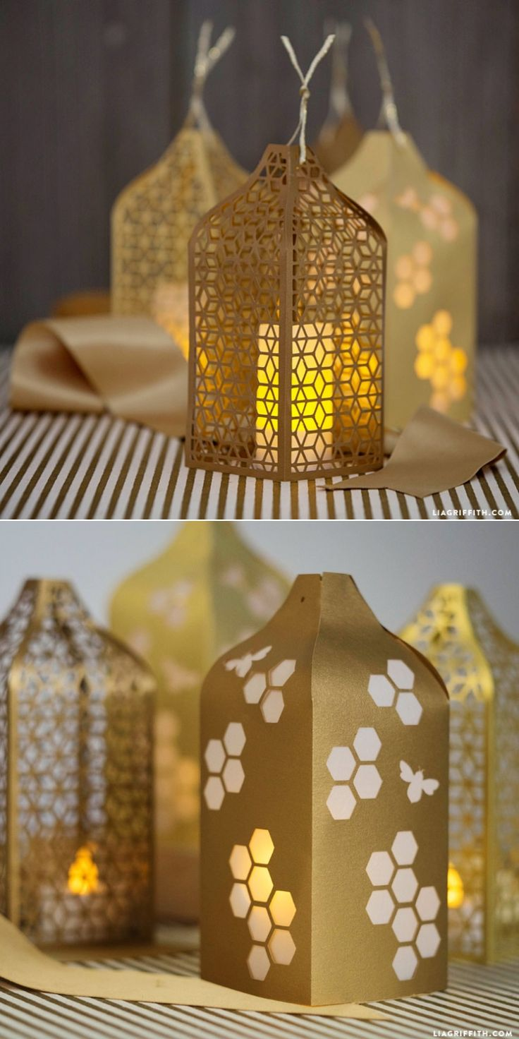 #papercut #honeycomb #lanterns #diywedding #weddingdecor www.LiaGriffith.com: