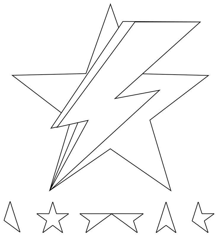 #davidbowie #david #bowie #blackstar #lightningbolt #tattoo #flash #lineart My…