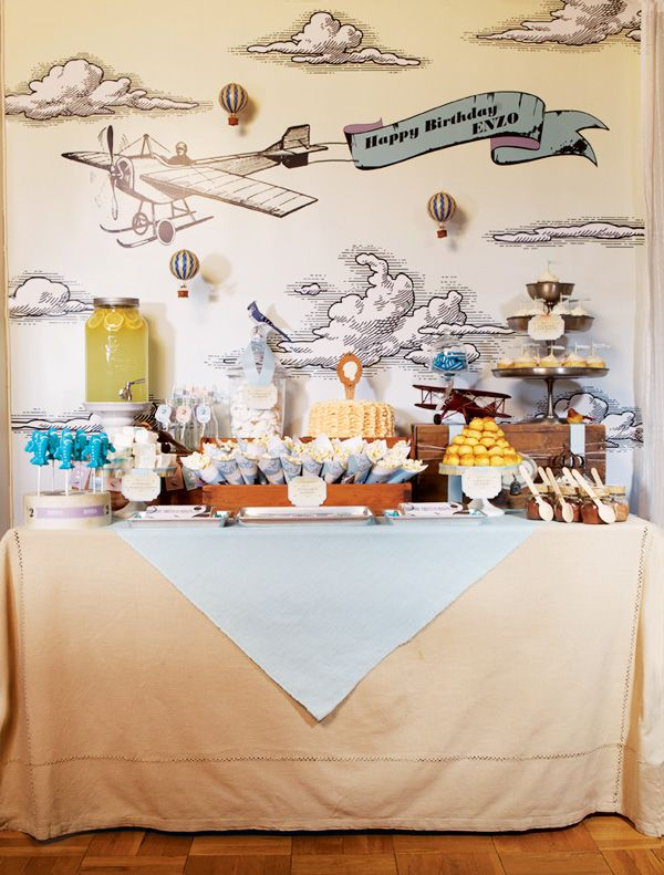 Airplane Inspired Vintage Transportation Party