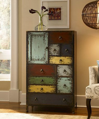 Take a look at this Cinnamon Parcel Accent Chest by Powell Company on #zulily today!