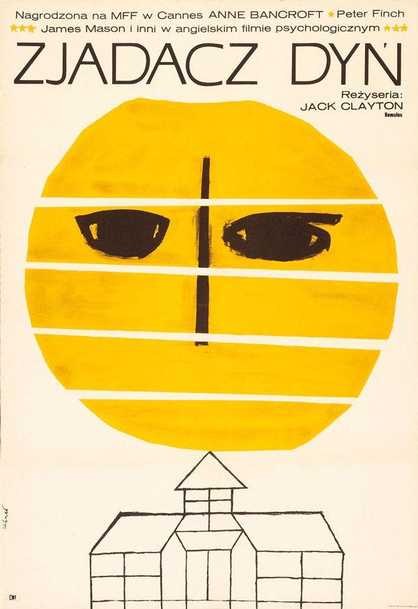 1966 Polish poster for THE PUMPKIN EATER (Jack Clayton, UK, 1964) Designer: Maciej Hibner Poster source: Heritage Auctions